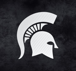 White Carbon Fiber Sparty Decal
