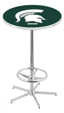 "MSU 42"" Chrome Pub Table"
