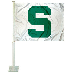 White Car Flag - Block S