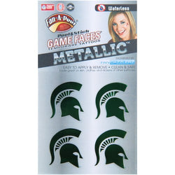 MSU Waterless Face Tattoos - Metallic