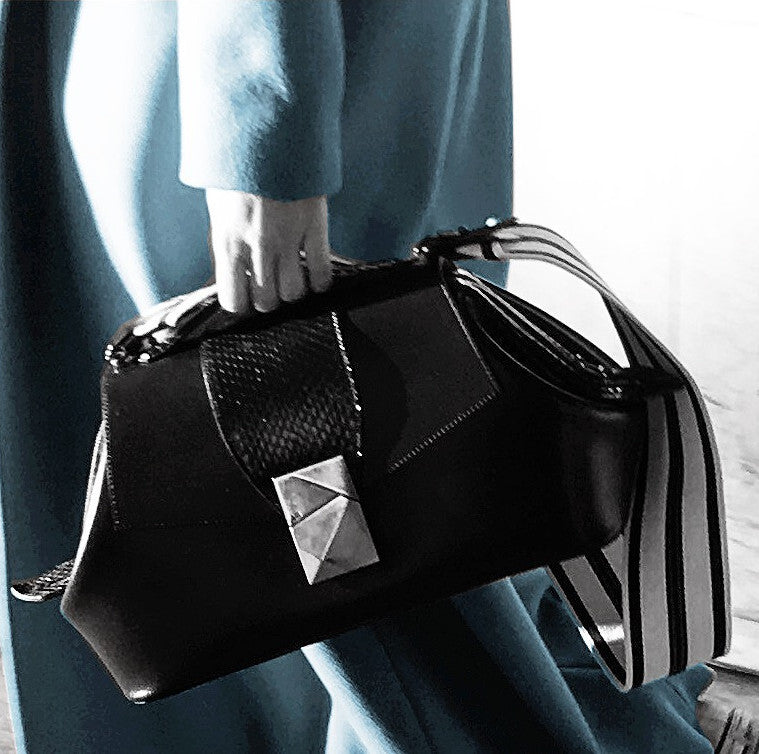 made in italy exotic leather bag