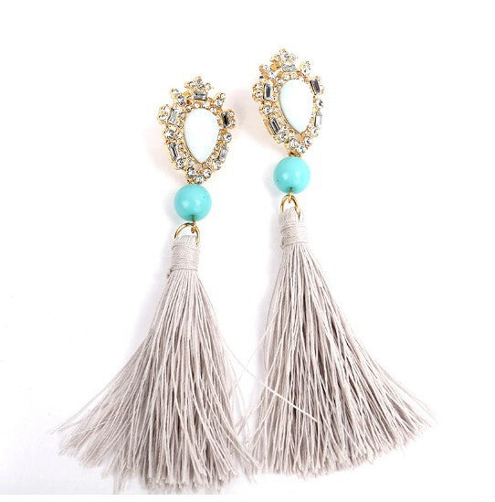 Water Drop Tassels Earrings