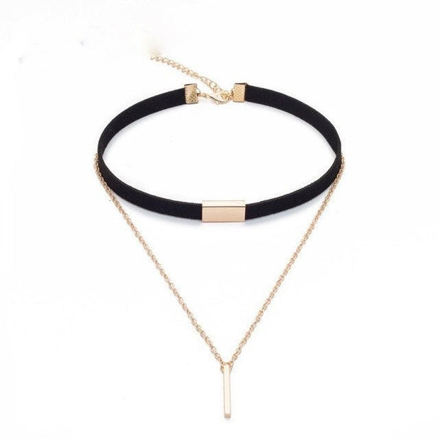 Faux Suede Layered Choker