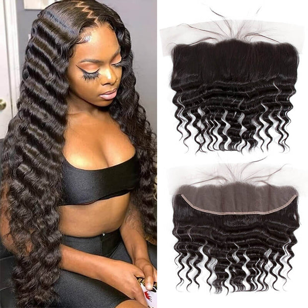 QT Brazilian 100% Human Hair Straight Hair 613 Blonde With Lace Frontal - QT Hair