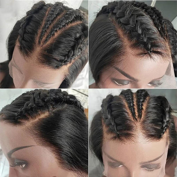 QTHAIR 12A Brazilian Loose Deep Wave Human Hair Bundles With Swiss Lace 100% Unprocessed Virgin Human Hair with Closure - QTHAIR