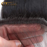 QTHAIR 12A Body Wave Human Hair Lace Closure Swiss Lace Closure Pre Plucked Natural Hairline with Baby Hair - QT Hair