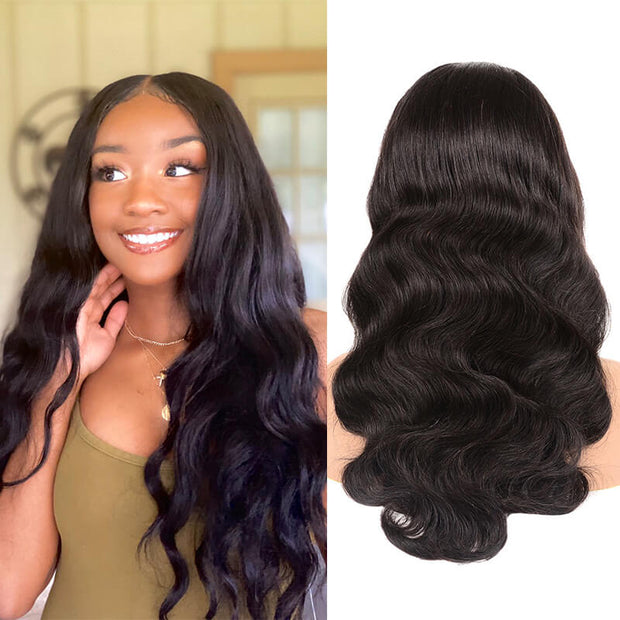QT Brazilian Deep Wave Real Human Hair 3 Wefts With Lace Frontal - QTHAIR