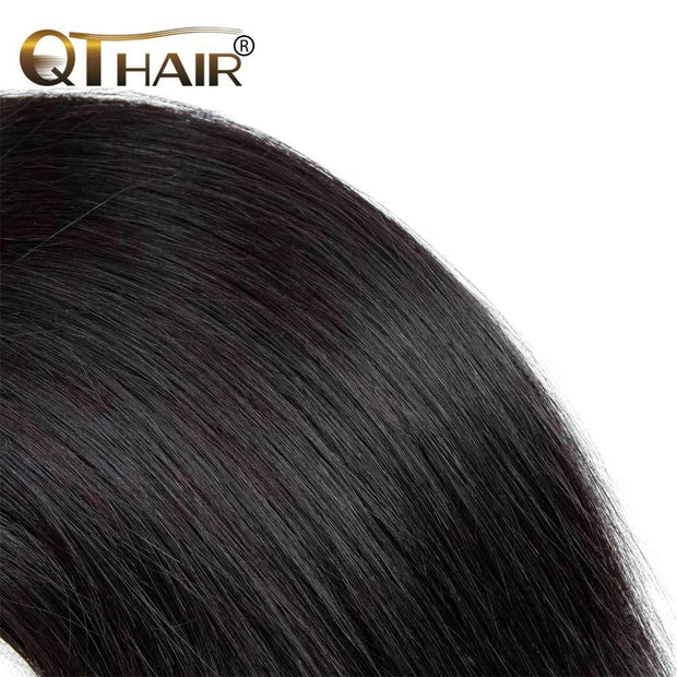 QTHAIR 12A 4 Bundles Straight Brazilian Virgin Hair Best Quantity Straight Human Hair Extensions Remy Hair Weave - QTHAIR