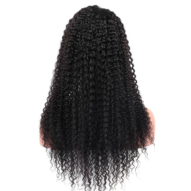 QT Hair 13X4 Kinky Curly Lace Front Wigs With Pre Plucked Hairline Lace Frontal Wigs - QT Hair