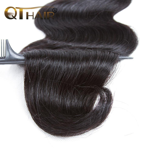 QT Malaysian Body Wave 4 Bundles Remy Hair Weave Cheap Hair Extension - QT Hair