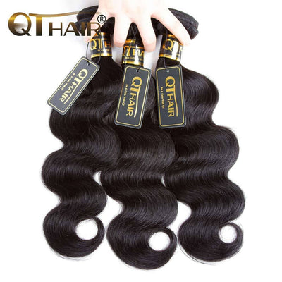 QTHAIR 12A 3 Bundles Peruvian Body Wave Human Hair Wave Best Peruvian Hair for Black Women - QT Hair