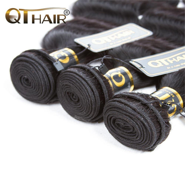 QT Brazilian Body Wave Hair Weave 3 Bundles Remy Hair Extension - QTHAIR
