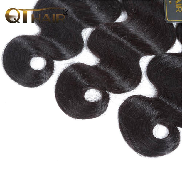 QTHAIR 12A 3 Bundles Peruvian Body Wave Human Hair Wave Best Peruvian Hair for Black Women - QTHAIR