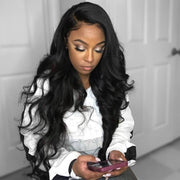 QT Best Human Hair 4 Bundles Brazilian Body Wave With Lace Closure - QTHAIR