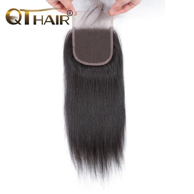 QT Brazilian Virgin Hair Straight Hair 4*4 Lace Closure - QT Hair