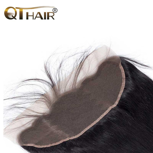 QT Malaysian 10A Straight 13x4 Lace Frontal Hair Closure - QT Hair