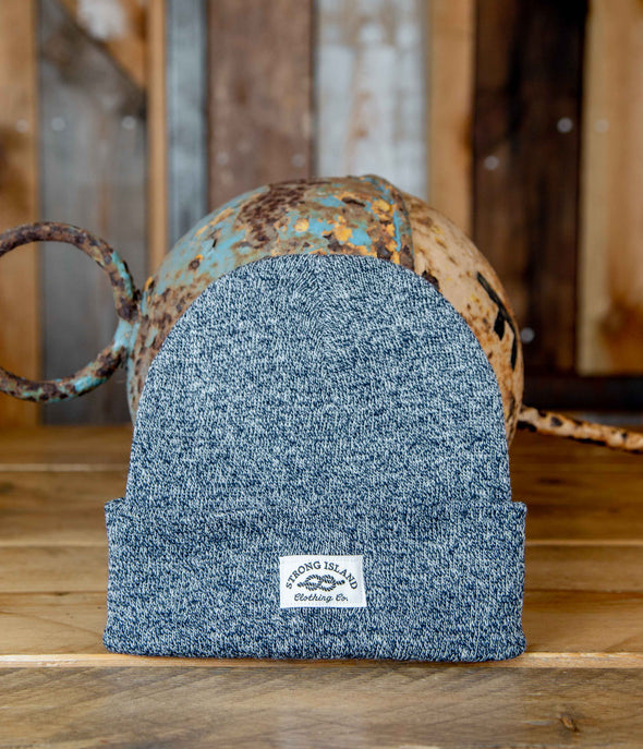 Staple Beanie // Heather Navy