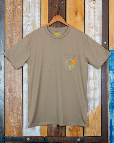Sunset // Premium Men's Pocket Tee