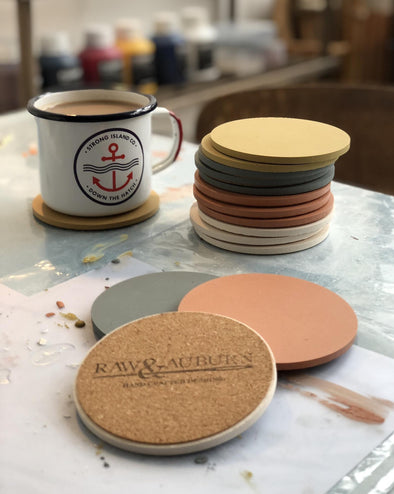 R&A // 4 Hand Crafted Coasters // Gift Boxed // Mix & Match
