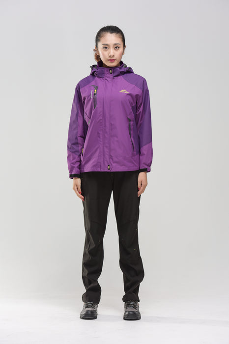 Front of the purple Women's Water- & Windproof Jacket