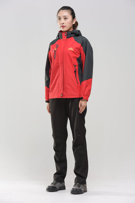 Women's Water- & Windproof Jacket Red