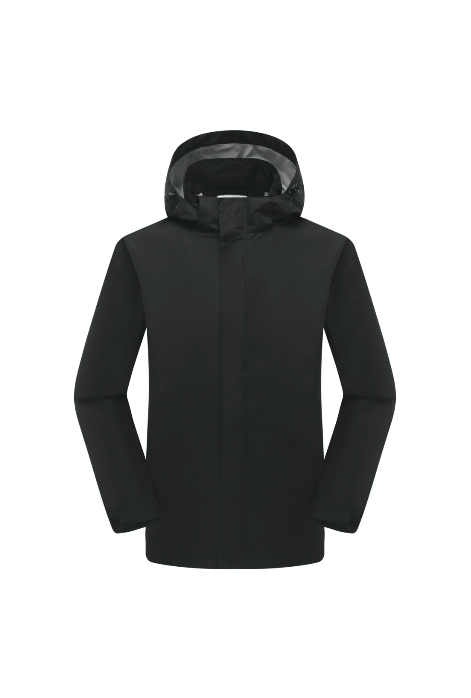 Men's Wind- & Waterproof Jacket - Black