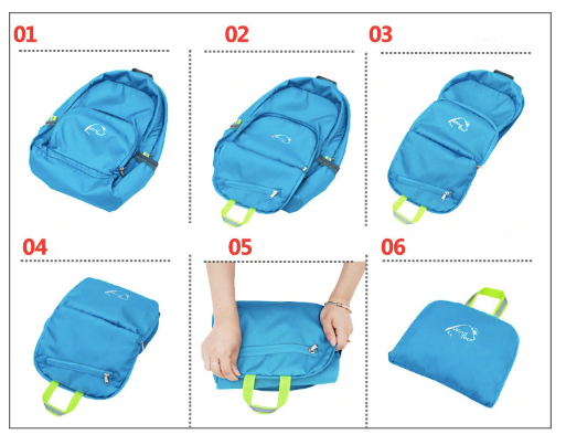 how to fold - Ultralight Foldable Backpack 25L