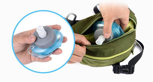 Folding Waterbottle 500ml - folded