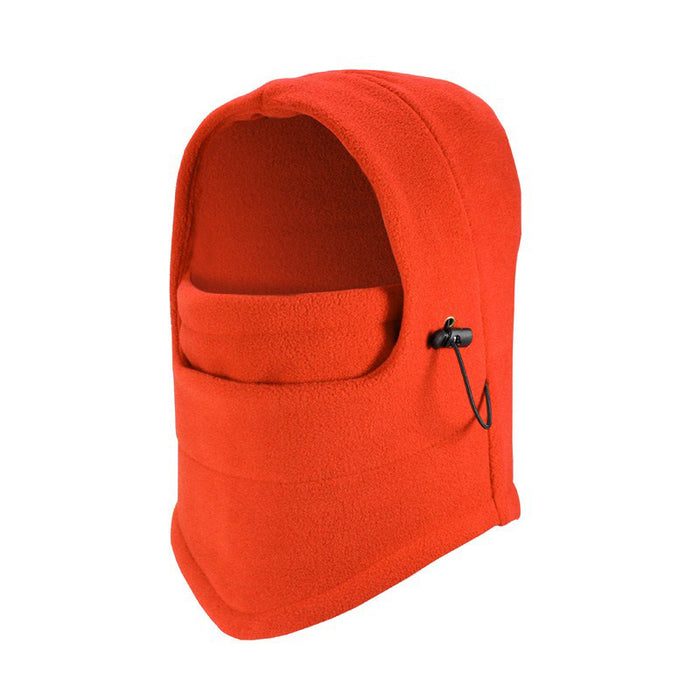 Orange Fleece Balaclava