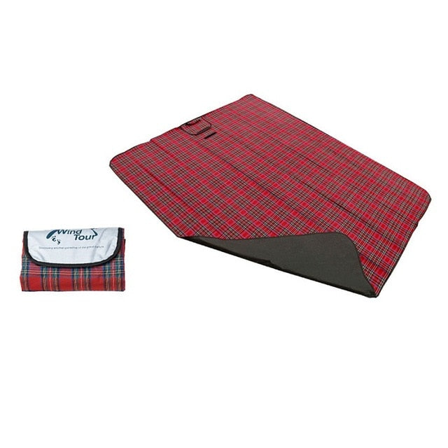 Red camping blanket