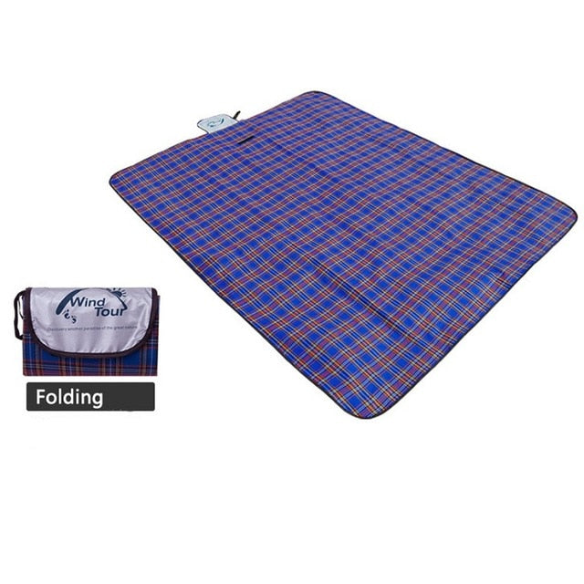 Navy blue camping blanket