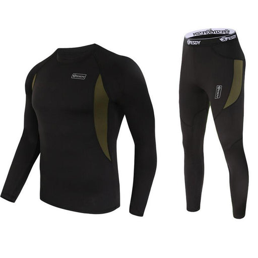 Quick-Dry Thermal Underwear Sets - black