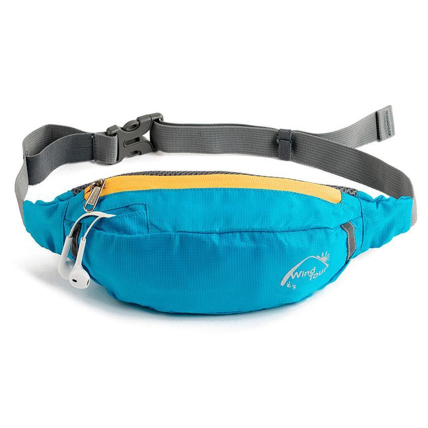 Blue Water Repellent Fanny Pack
