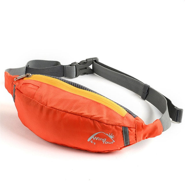 Orange Water Repellent Fanny Pack