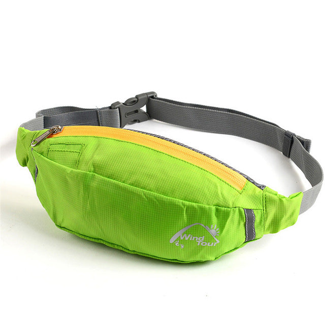 Green Water Repellent Fanny Pack