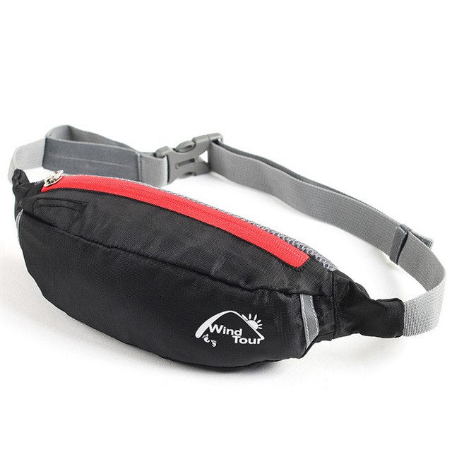 Black Water Repellent Fanny Pack