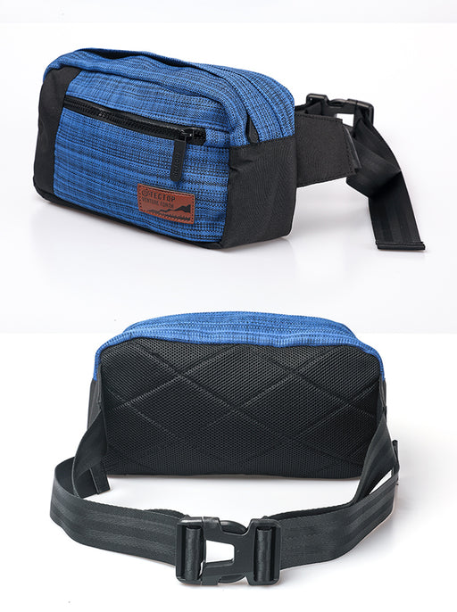 Blue Water Repellent Waist Bag