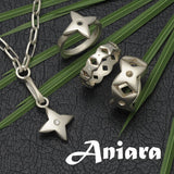 Aniara sterling silver heart star motif jewellery by UK based designer Annika Rutlin
