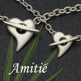 Amitie silver heart collection by Annika Rutlin, inspired by a commission for singer Anastacia.