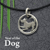 year of the dog, sterling silver lucky charm jewellery for those born in 2018, 2006, 1994, 1982, 1970 by Annika Rutlin