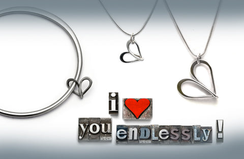 Endless Love collection the ultimate love jewellery based on infinity symbol