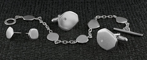 Annika-rutlin-mens-ladies-cufflinks-bracelet-studs-cairn-faceted-pebble-silver-jewelry-collection