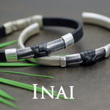 Inai sterling silver & leather mens designer jewellery collection by Annika Rutlin