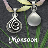 Monsoon, a unique reversible swirl pattern/ plain silver jewelry collection by Annika Rutlin