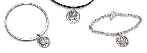 AnnikDesigner sterling silver year of the rooster lucky talisman bracelets and pendant