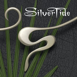 SilverTide, bold flowing solid silver jewellery collection featuring torques & cuff bangles.