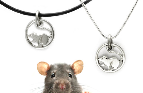 Year of the rat 2020 sterling silver talismanic jewellery by Annika Rutlin