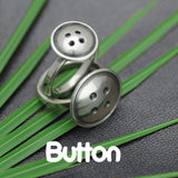 solid silver designer Button jewellery collection by  Annika Rutlin