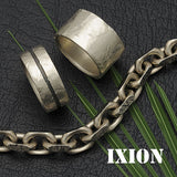 Ixion rugged solid silver men's designer jewellery collection by Annika Rutlin