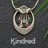 Kindred, sentimental gem set silver collection celebrating familly, by Annika Rutlin